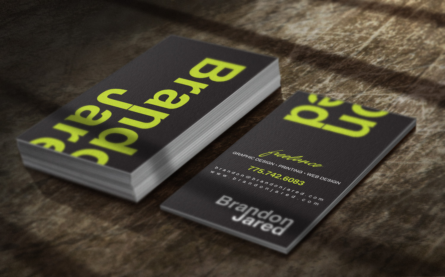 Brandon jared graphic web design reno nv business cards reheart Image collections